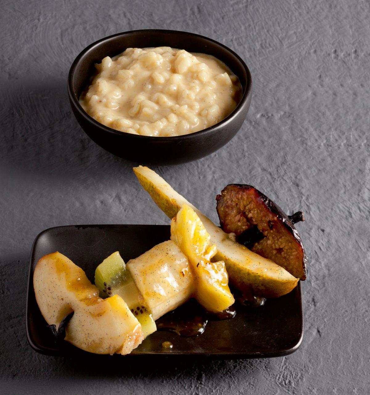 Riz au lait et fruits r tis par l 39 cole de cuisine alain for Alain ducasse ecole de cuisine