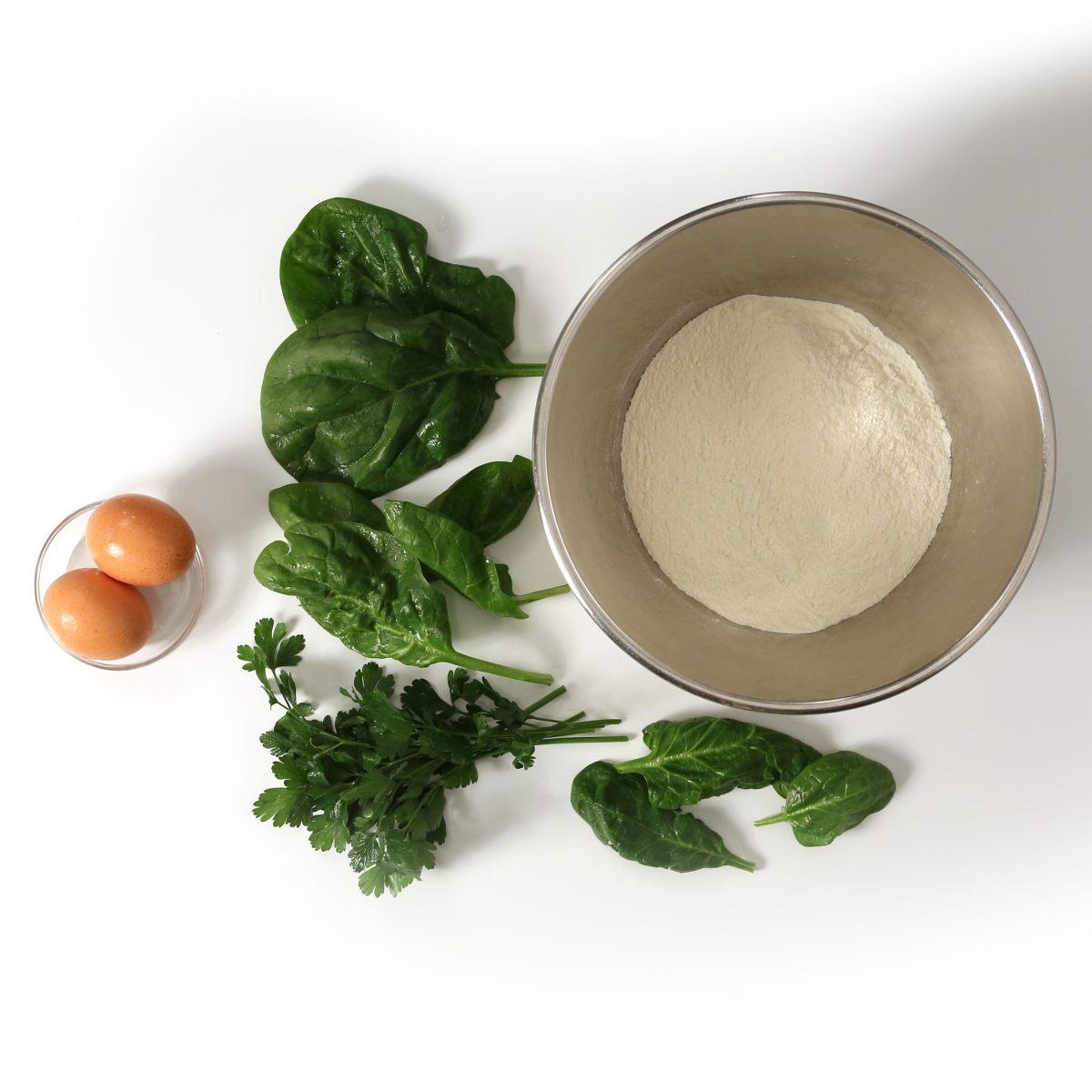 Pâte à ravioli verte