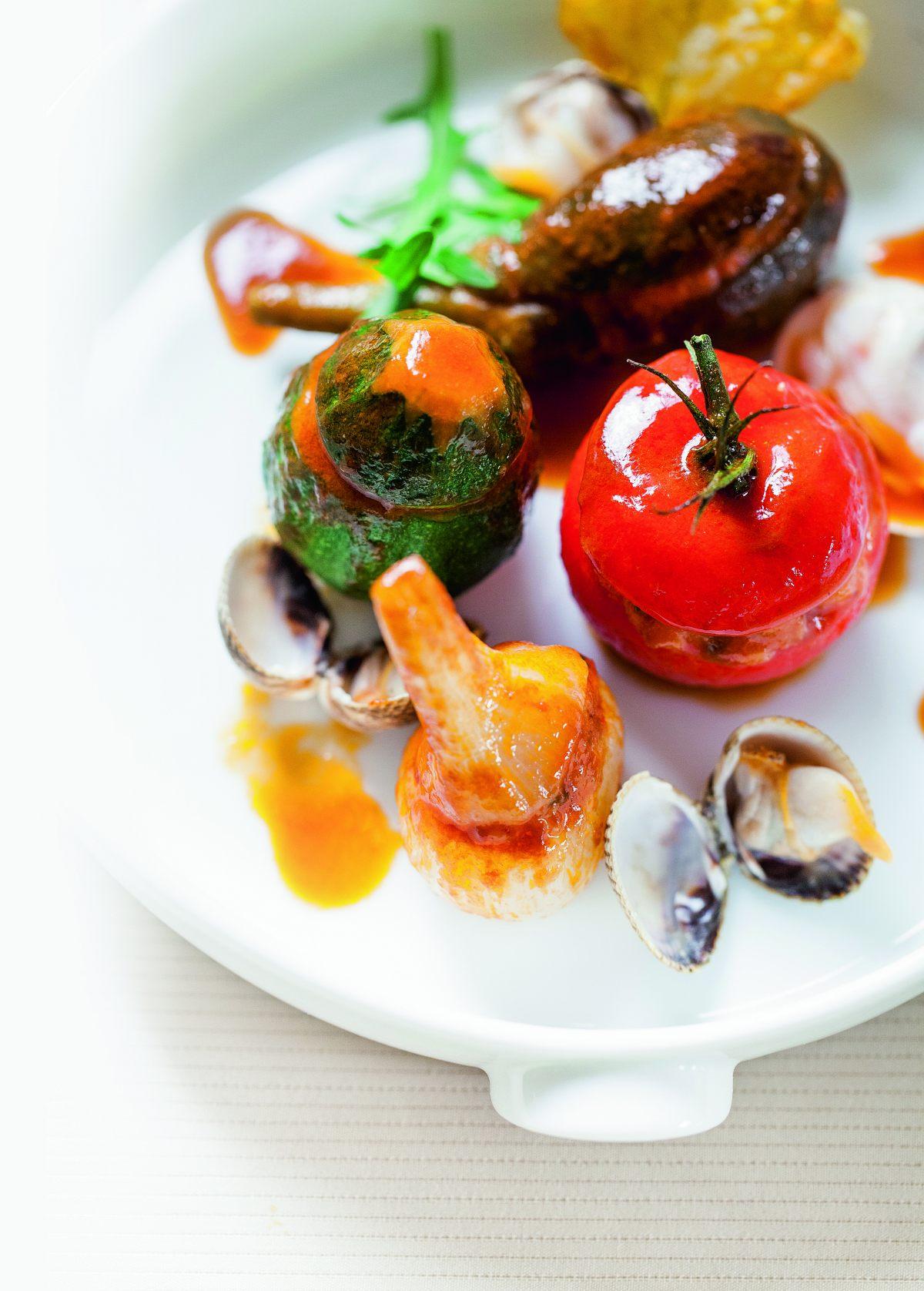 Recette de petits farcis aux crustac s et aux coquillages - Livre cuisine michalak ...