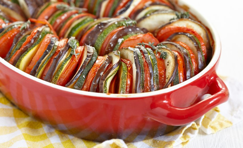 Gateau aux courgettes et aubergines
