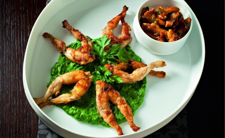 Recette de cuisses de grenouille la cr me de persil de - Cuisiner cuisses de grenouilles surgelees ...