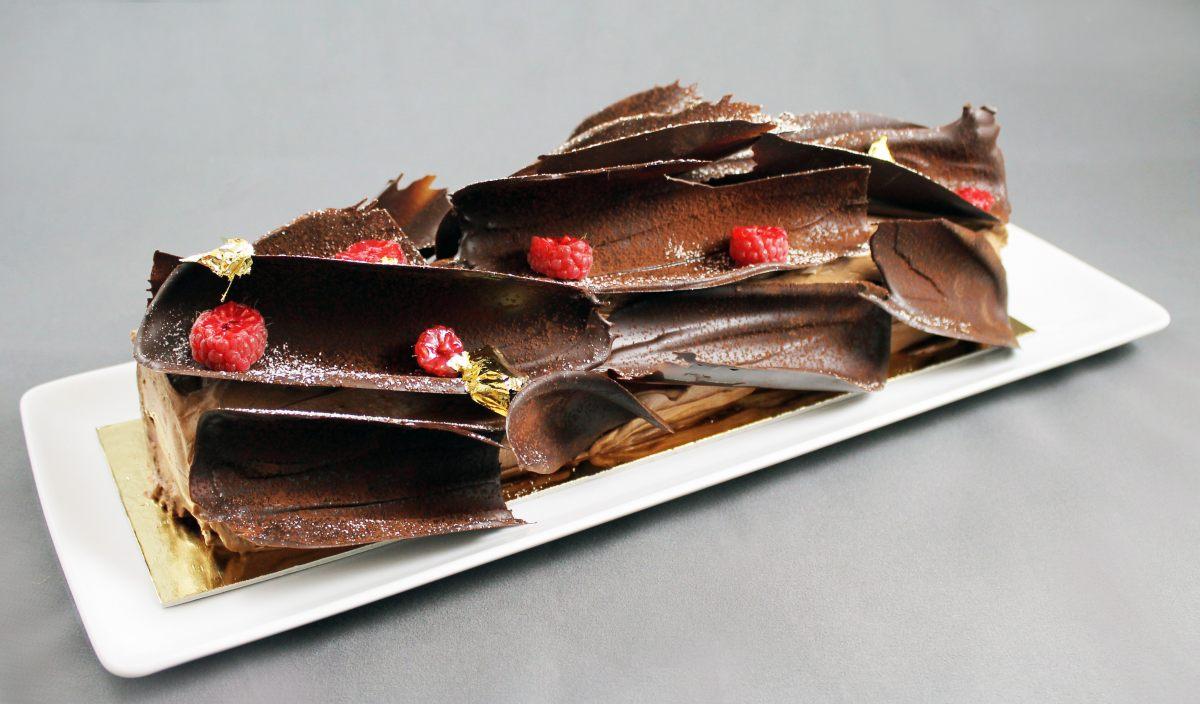 Bûche chocolat-framboise