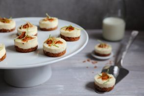 Mini cheesecakes passion & agrumes