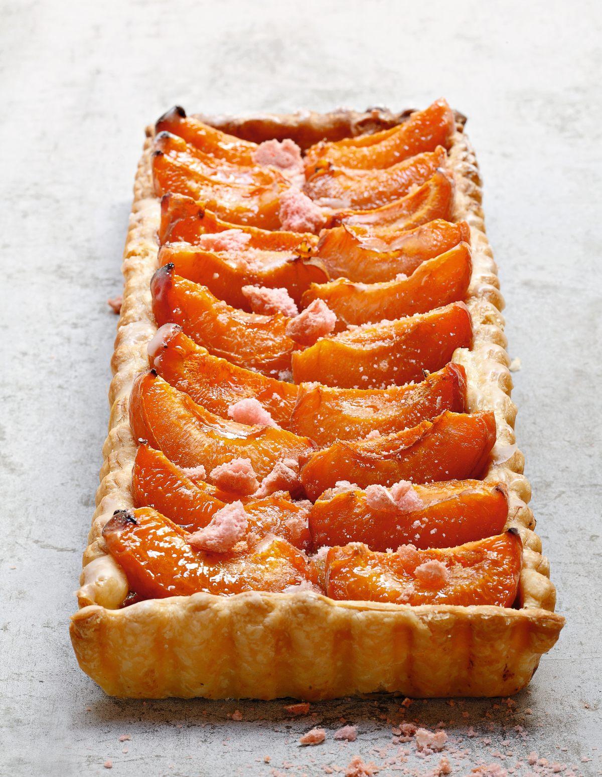 Tarte aux abricots - Recette de tarte aux abricots ...