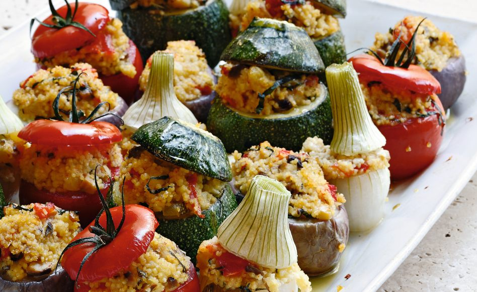 Recette de petits légumes farcis au millet par Alain Ducasse