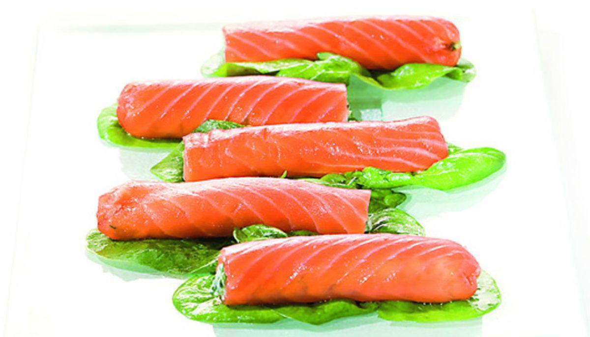Cannellonis de saumon marin en gravlax par alain ducasse - Saumon gravlax rapide ...