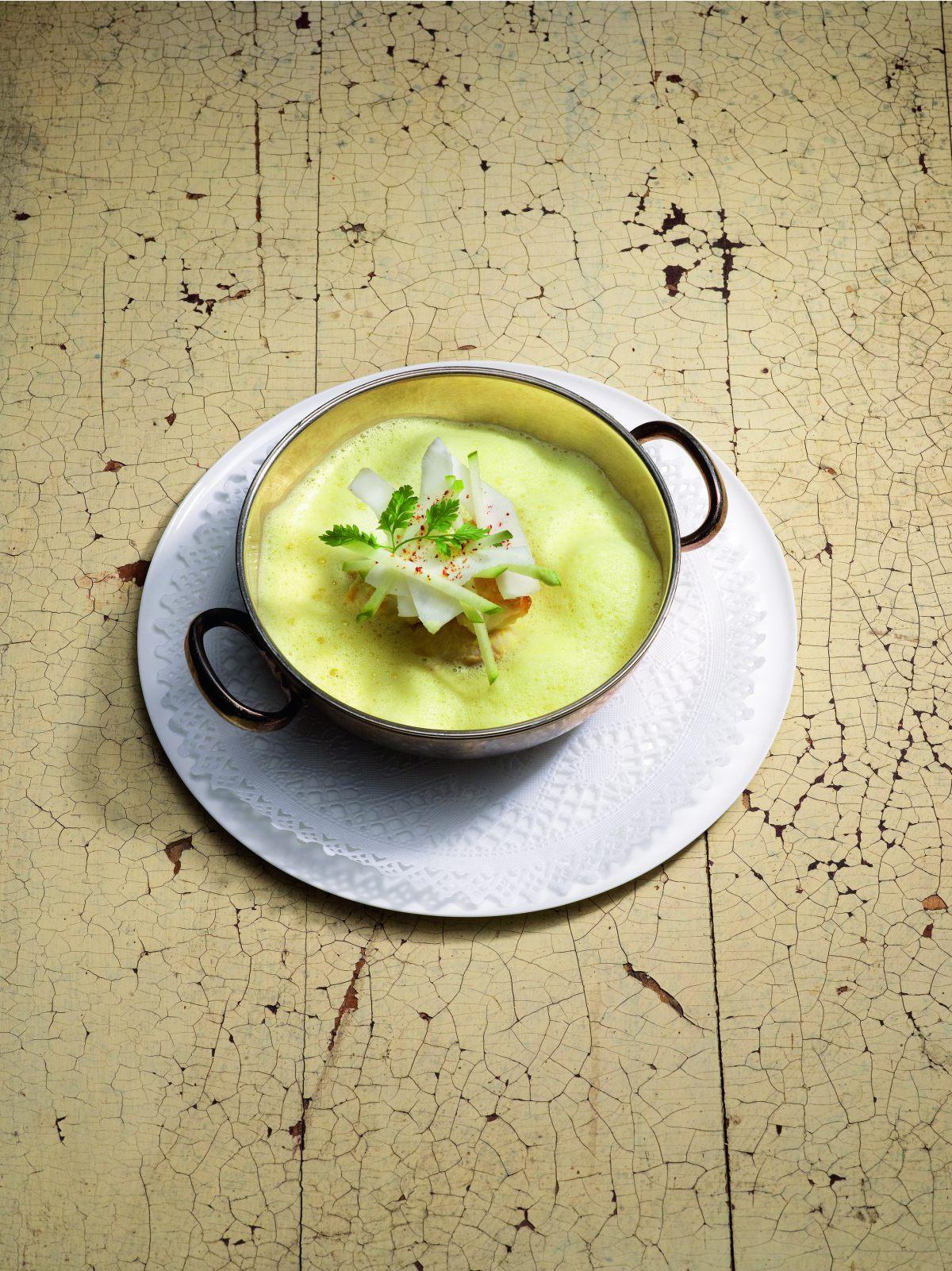 Lotte cuisin e en cocotte au curry de madras et risotto - Offrir un cours de cuisine avec cyril lignac ...