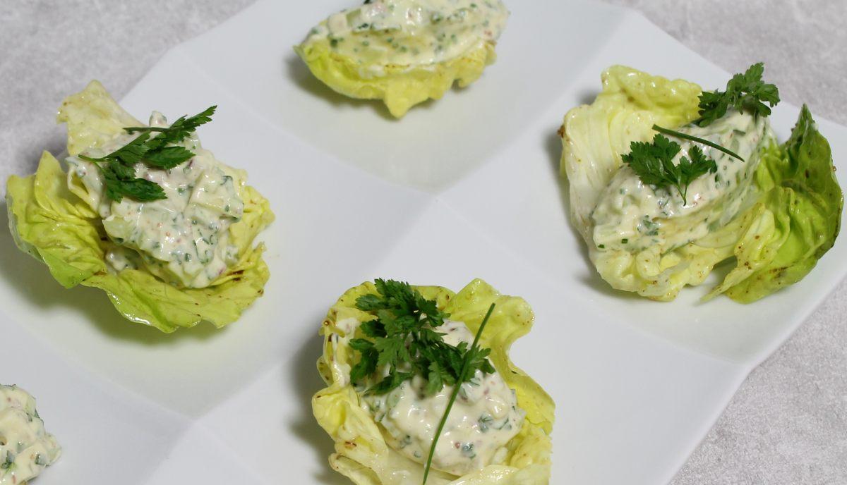 Tartare de légumes, crème de moutarde