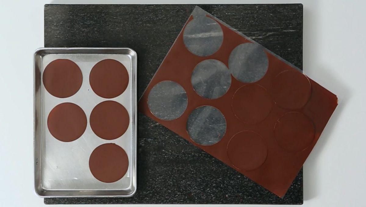 Feuilles de chocolat