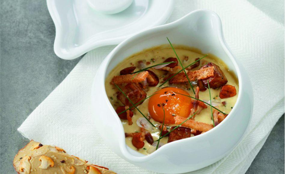 Uf cocotte au foie gras et girolles par l 39 cole de for Alain ducasse ecole de cuisine