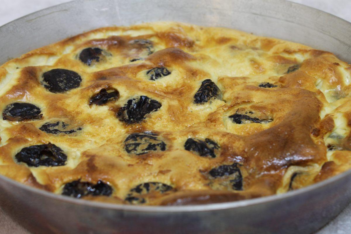 Clafoutis de pruneaux à l'Armagnac