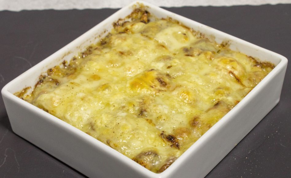 recette de gratin d 39 asperges blanches par alain ducasse. Black Bedroom Furniture Sets. Home Design Ideas