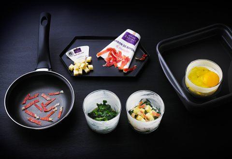 Recettes d 39 oeufs cocotte aux pinards et au jambon de bayonne for Academie de cuisine summer camp