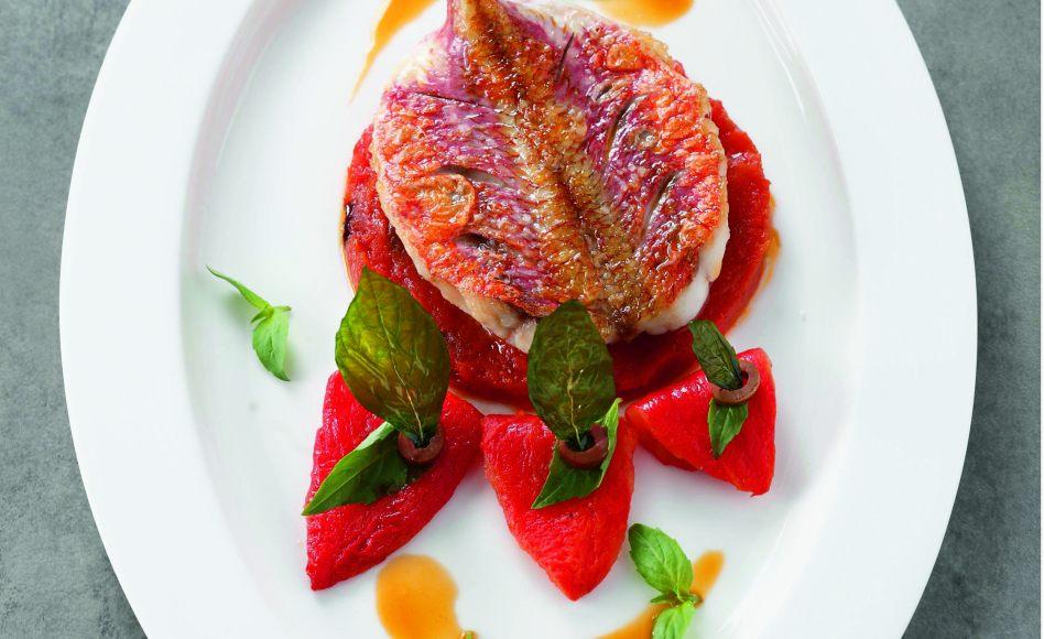 Rouget po l tomate olive basilic par l 39 cole de for Alain ducasse ecole de cuisine