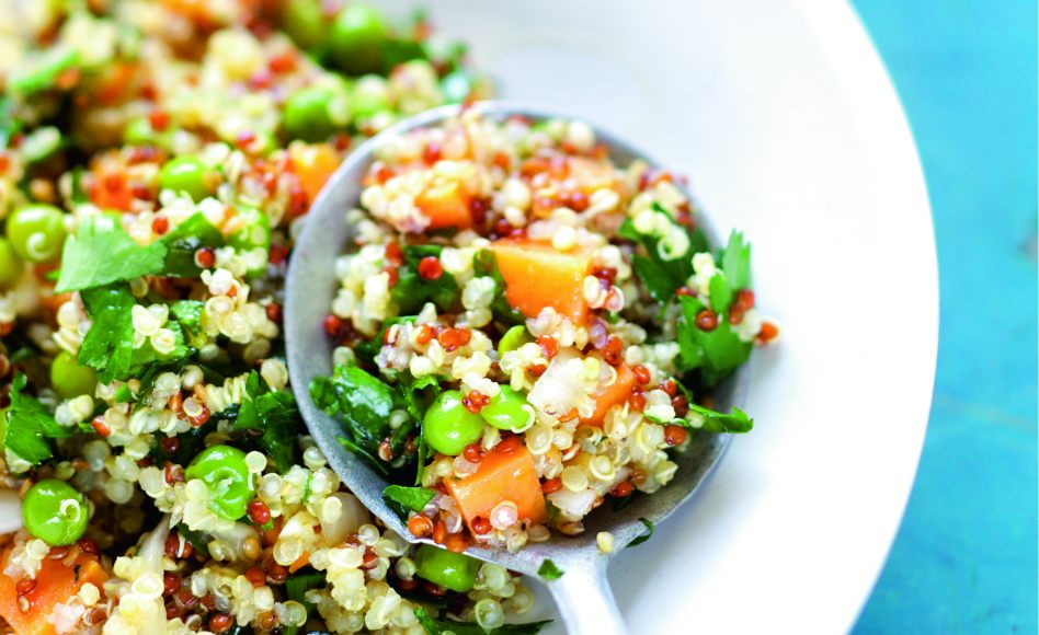 Salade de quinoa, orange et patate douce par Julie Andrieu