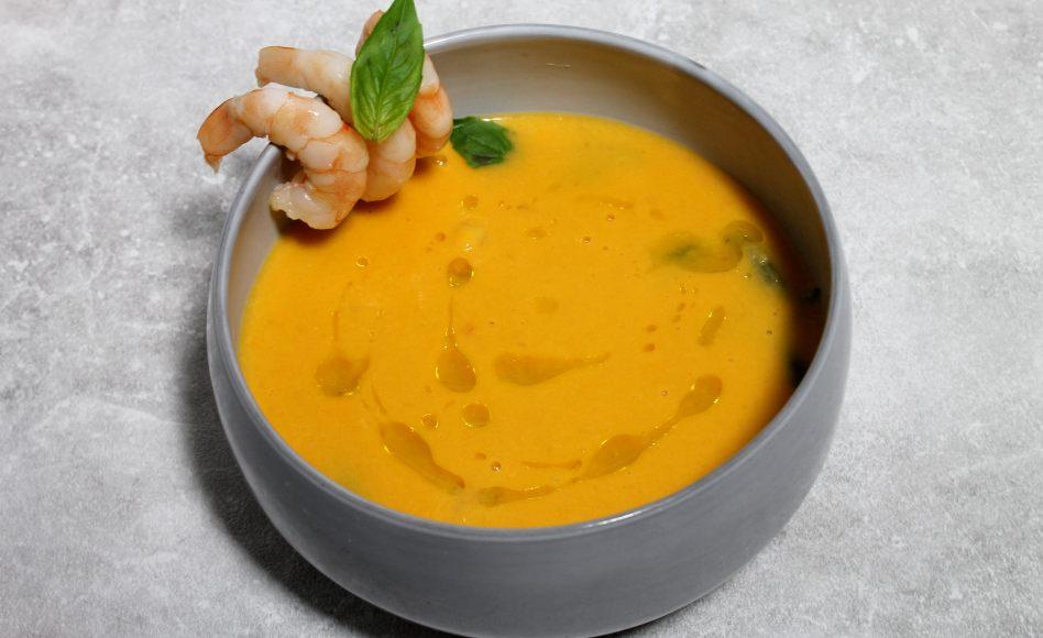 Recette De Veloute De Tomates Au Lait De Coco Et Aux Crevettes Par