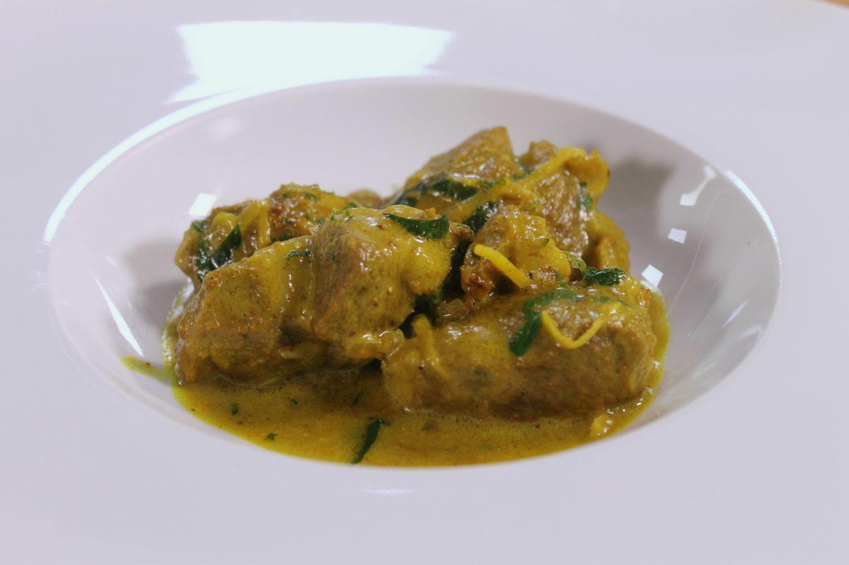 Curry d'agneau au tapioca