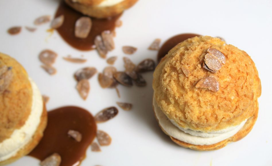 recette de choux au caramel beurre sal par alan geaam. Black Bedroom Furniture Sets. Home Design Ideas