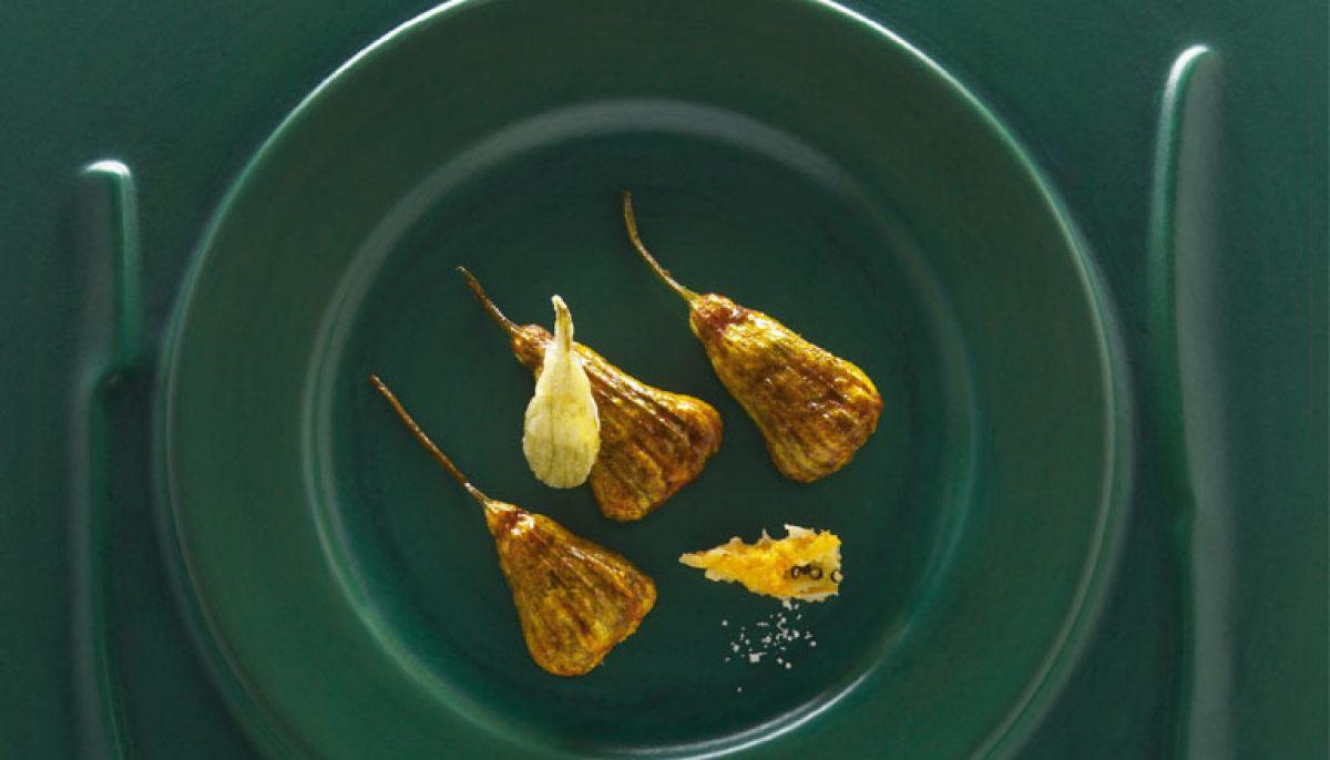 Recette de fleurs de courgettes farcies par alain ducasse - Fleurs de courgettes farcies ...