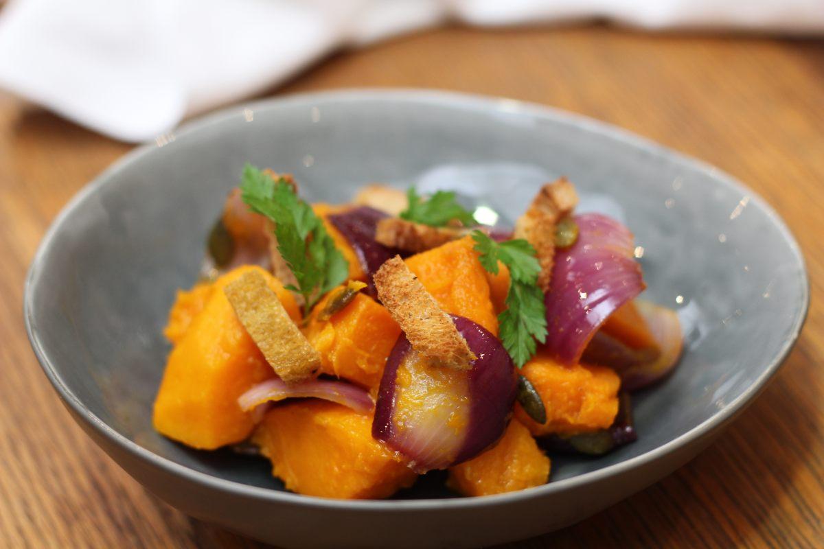 Salade de potimarron rôti au four