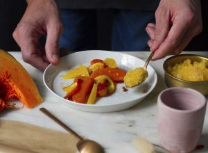Recette de courge butternut, orange & curcuma par Romain Meder