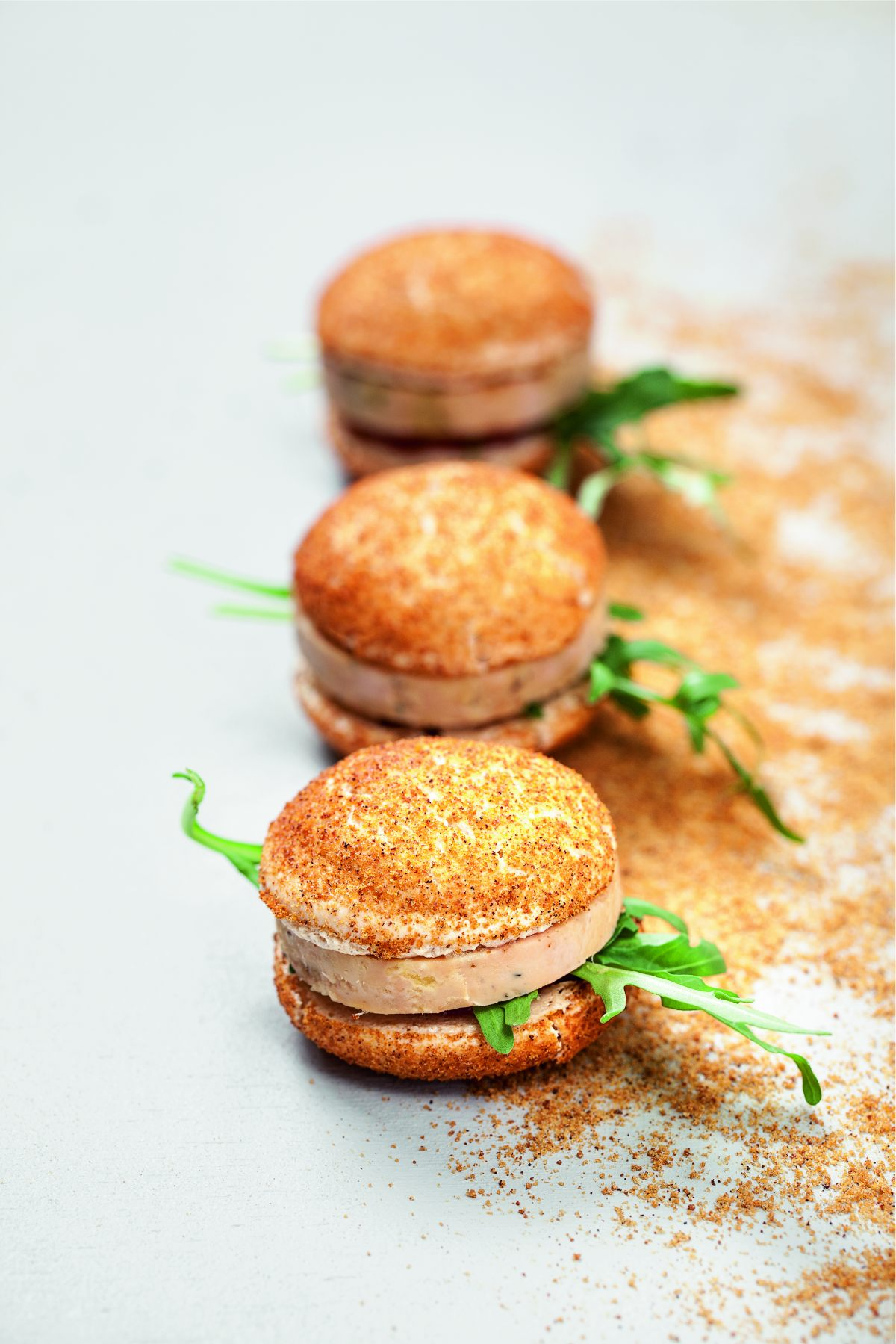 macarons au foie gras figues et pain d pices par alain ducasse. Black Bedroom Furniture Sets. Home Design Ideas